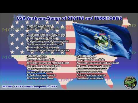 Maine State Song STATE OF MAINE SONG with music, vocal and lyrics