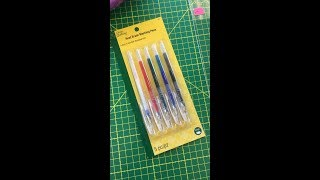Heat Erase Pens bỳ Dritz Quilting. Do they work? Find out here.