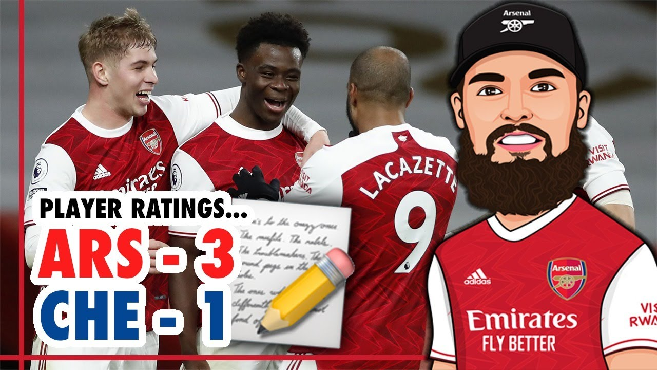 Arsenal 3 1 Chelsea Player Ratings Saka Martinelli Smith Rowe Is The Future Bright Youtube