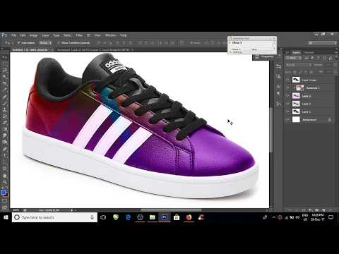 Shoe  Mockup Photoshop Cs6 2018 ( adidas)