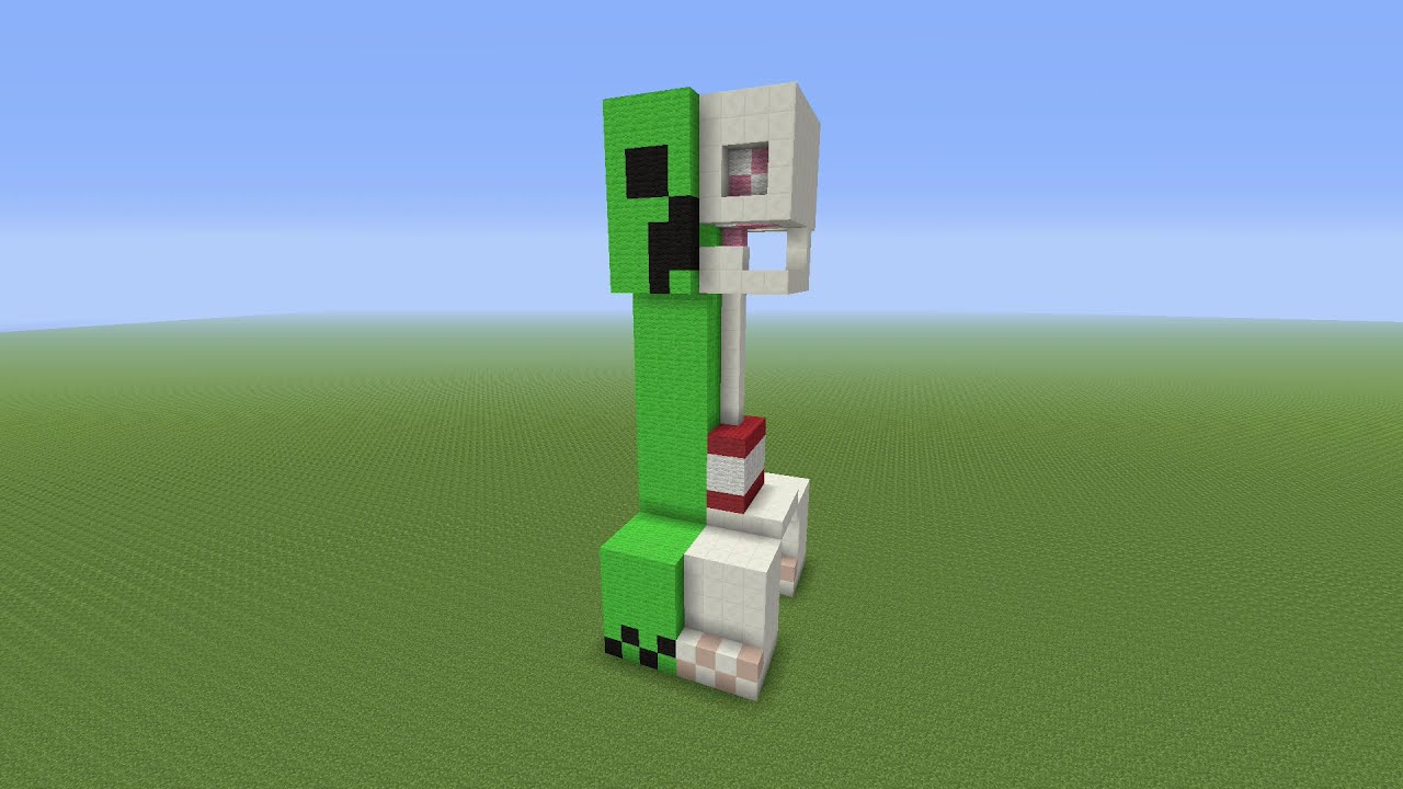 Minecraft Tutorial: How To Build A Creepers Anatomy Statue - YouTube