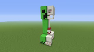 Minecraft Tutorial: How To Build A Creepers Anatomy Statue