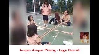 Ampar ampar pisang - Lagu daerah Kalimantan Selatan cover Bilqis - video Permainan Bambu Rangku Alu