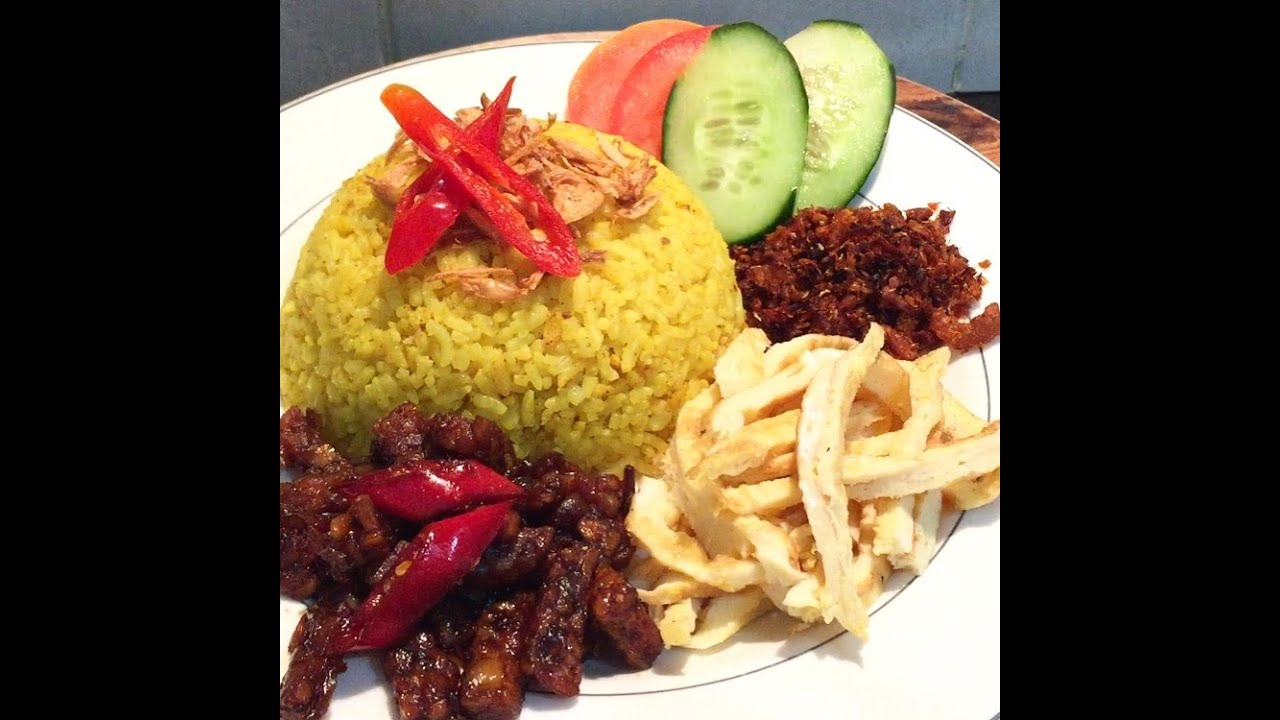 nasi kuning indonesian yellow turmeric rice