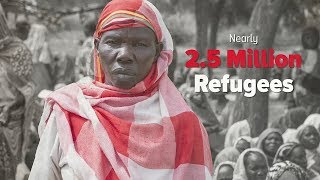 Five years of conflict have forced nearly 2.5 million South Sudanes...