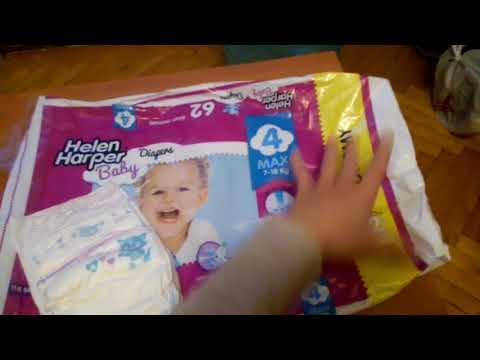 Обзор подгузников Dada ,Helen Harper Baby 4 )))