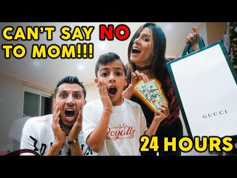 Kids Can't Say NO To MOM For 24 Hours!! **MOM IN CHARGE** | The Royalty Family
