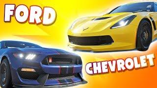 Forza Horizon 4 - Ford vs Chevrolet! Trudny pojedynek!⚡