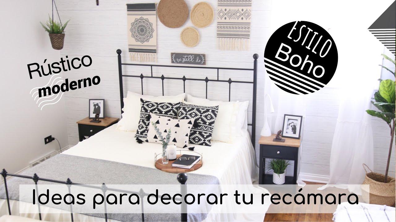 Ideas para decorar tu habitación estilo boho | estilo rústico moderno |Decoraciones para la recamara