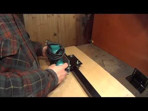 видео: 9. Как идеально ровно фрезеровать ручным фрезером по направляющей шине