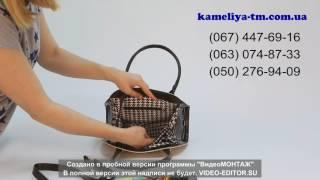 """Видеообзор женской сумки из кожзама """"Камелия"""" (модель 70)"""