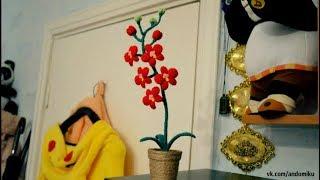 Орхидея | Амигуруми | Орхидея в горшке | Своими руками | Творчество | Andomiku