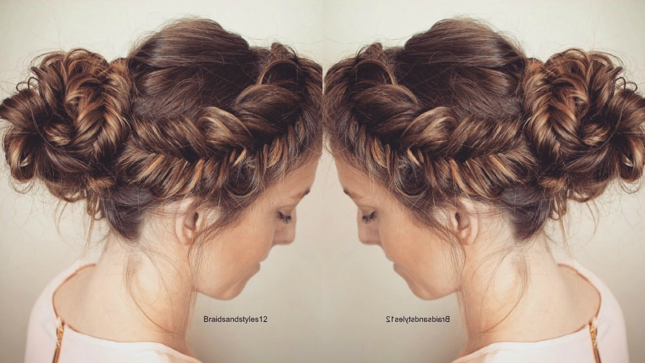 How To Messy Fishtail Updo Hair Tutorial Braidsandstyles12