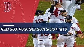 Red Sox love postseason two-out rallies