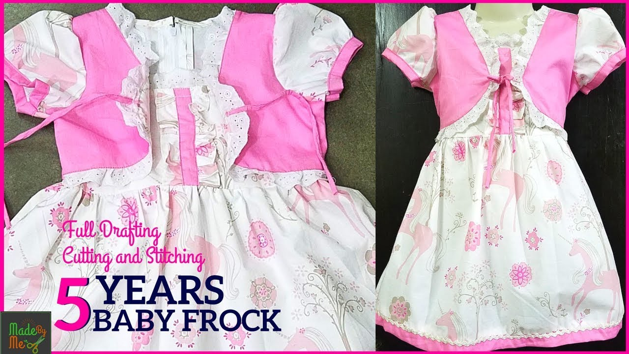 8ab143b85d 5 Years BABY FROCK DRAFTING Cutting and Stitching in Hindi/Urdu