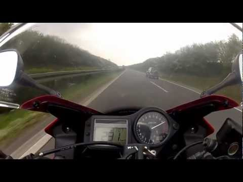 TOP Speed Honda CBR 600 on German Autobahn
