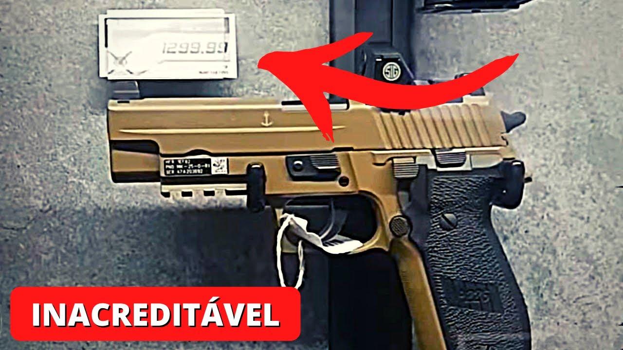 PREÇOS de ARMAS DE FOGO nos EUA (Colt, Glock, Sig Sauer, Taurus, Iwi...)