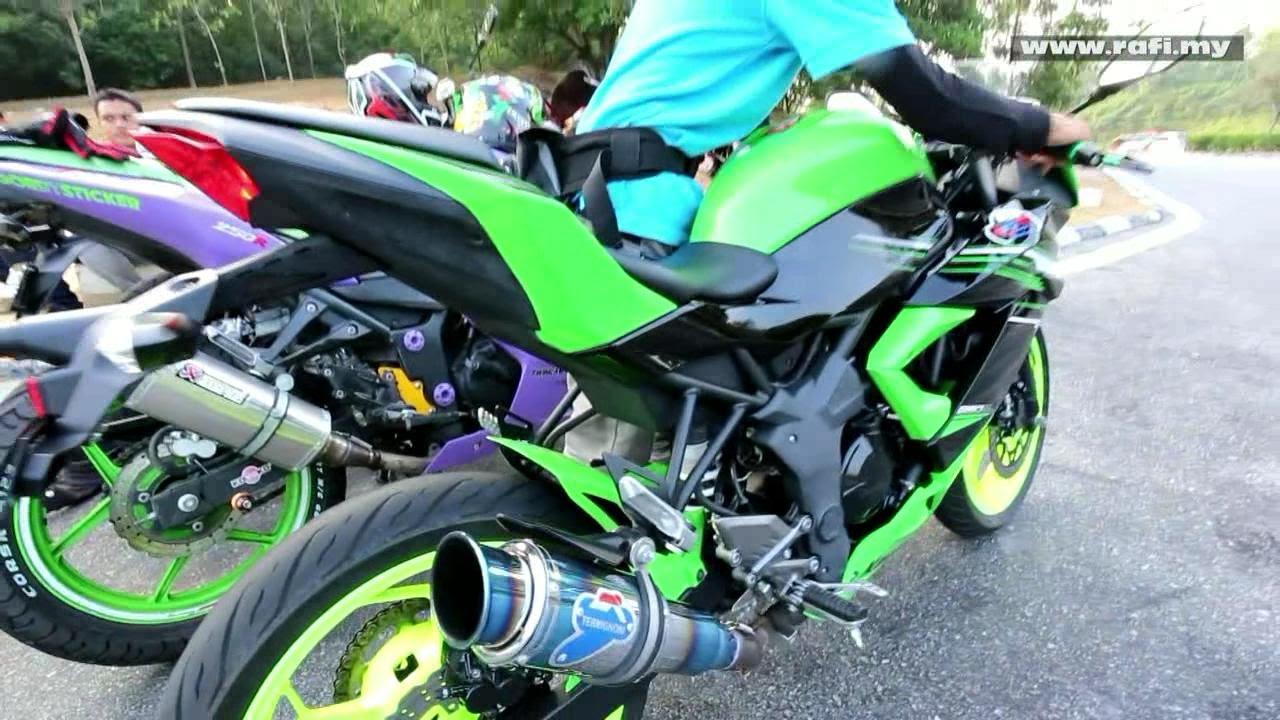 Kawasaki Ninja 250SL with Termignoni Replica Exhaust - YouTube