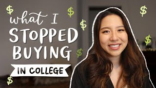 What I Stopped Buying As a College Student | money saving & finance tips