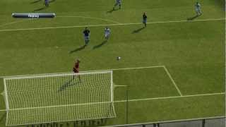 PES 2013 unlocked demo gameplay: Italy - England (settings: 15 minutes / blur disabled)