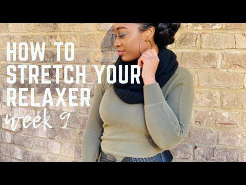 How To Stretch Your Relaxed Hair | SERIES- Week 9 | Faux Bun Using Braid Hair