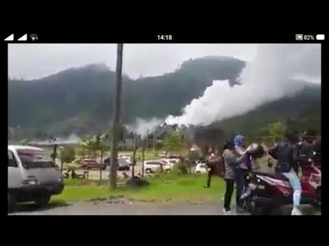 Detik-detik kawah Dieng Meletus/wedus gembel..