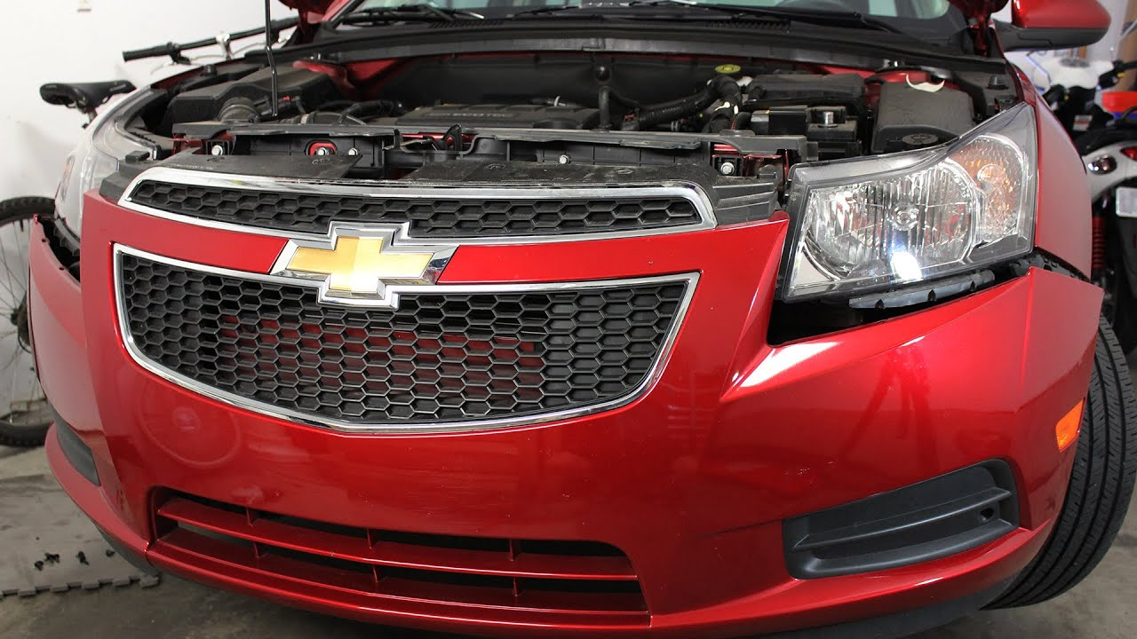 small resolution of chevrolet chevy cruze front bumper cover removal and installation 2012 2014 youtube 2014 chevy cruze headlight