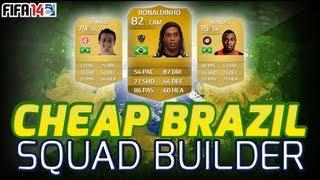 FIFA 14 Ultimate Team - Squad Builder - Cheap Brazilian Team