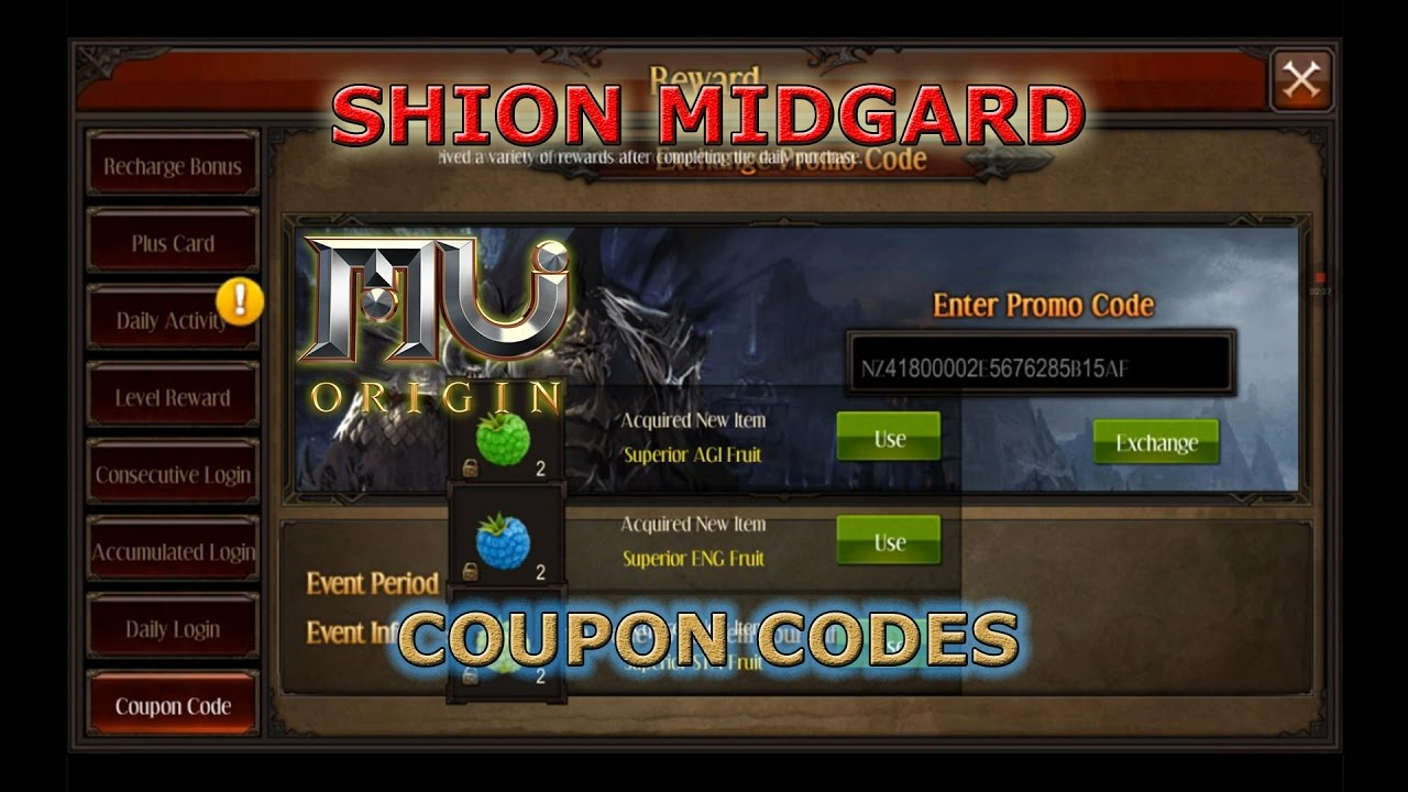 [Mu Origin] Coupon Codes