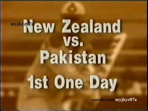 Match Highlights : 1st ODI - Pakistan tour of New Zealand at Dunedin 1993 /94