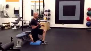 Elevated rear foot split squat