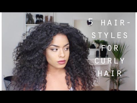 5 QUICK EASY HAIRSTYLES FOR LONG CURLY HAIR