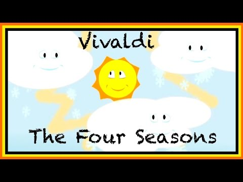 Classical Music for Children: Kids English Educational - Vivaldi Four Seasons ABC 123