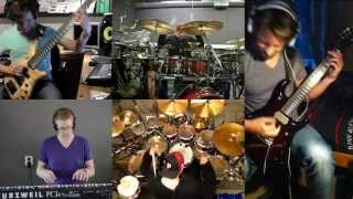 Dream Theater - A Fortune in Lies (instrumental) split screen cover by Panic Attack