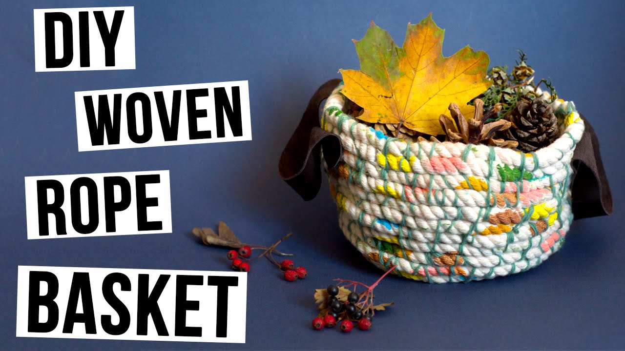 Woven Basket How To Make : Diy woven rope basket