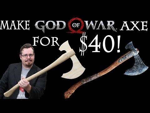 Make Kratos God Of War Axe For 40