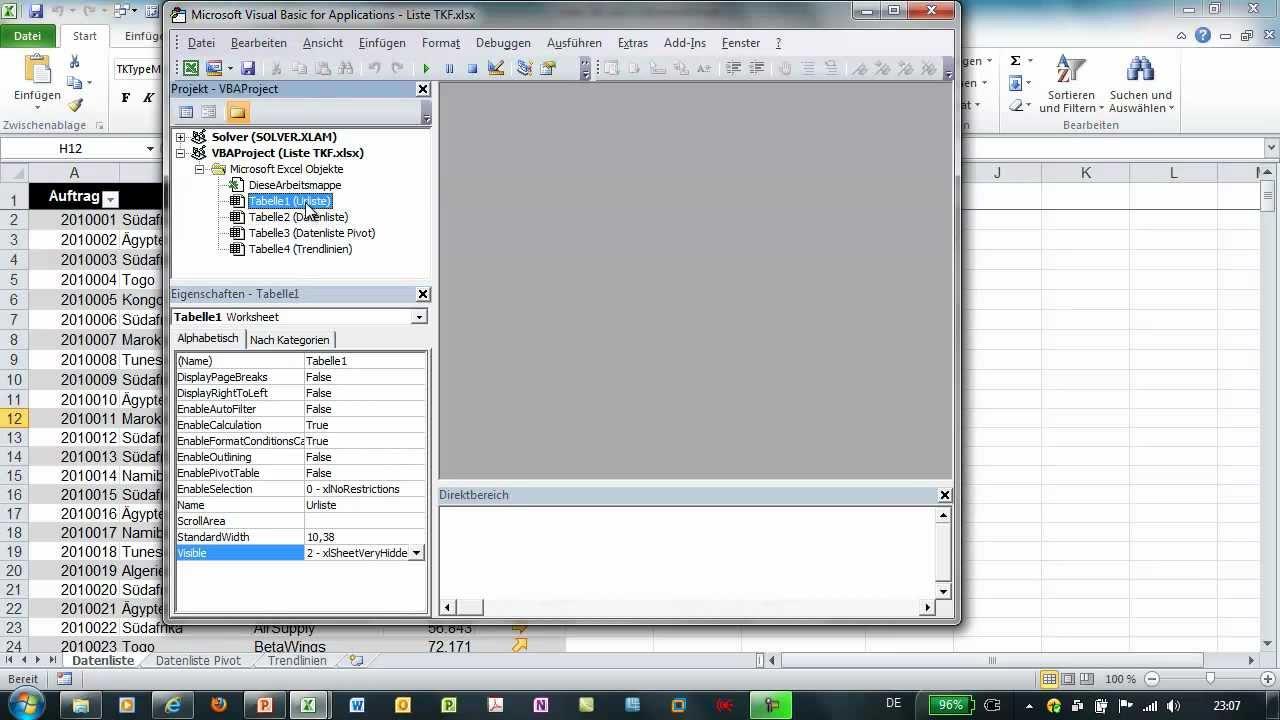 Excel - Tabellenblätter ausblenden, verbergen und wieder aufspüren ...