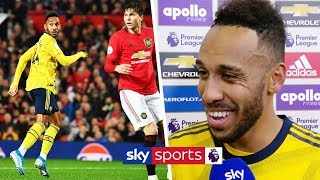 Aubameyang reveals what he was thinking after his goal was ruled offside vs Manchester United
