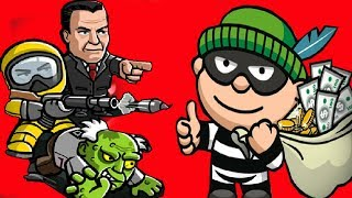 ВОРИШКА БОБ - игровой мультик для детей ГРАБИТЕЛЬ БОБ ограбил ДОМ и убегает от ОХРАННИКОВ и ЗОМБИ #8