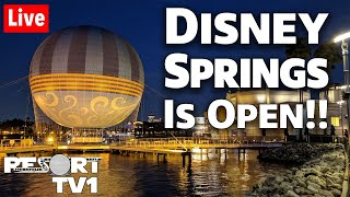 🔴Live: Disney Springs is Open!!  Walt Disney World 1080p Live Stream - 5-20-20