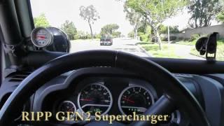 Jeep Wrangler 0-50mph Stock vs. Superchips vs. RIPP GEN2 Supercharger