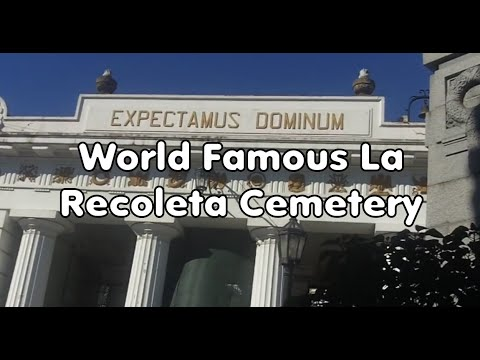 World Famous La Recoleta Cemetery