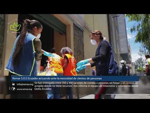 REMAR ONG - Remar S.O.S CRISIS COVID-19 Ecuador actuando ante la necesidad de cientos de personas.