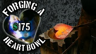Forging a $175 Steel Heart Bowl (Blacksmithing Projects that Sell)
