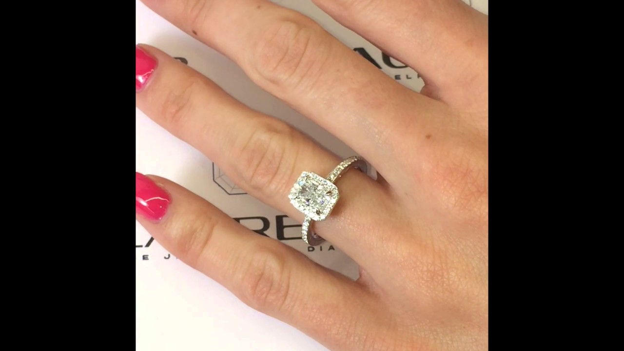 lauren cut a diamond radiant by itm e gia diamonds halo original ring