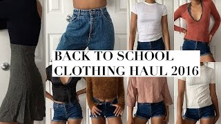 BACK TO SCHOOL TRY ON CLOTHING HAUL // 2016-2017