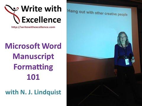 Microsoft Word Manuscript Formatting 101
