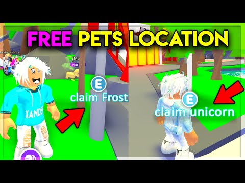 *SECRET* LOCATIONS FOR FREE LEGENDARY PETS IN ADOPT ME