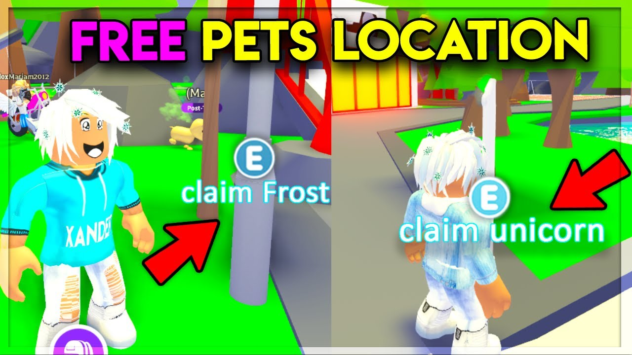 Secret Locations For Free Legendary Pets In Adopt Me Youtube