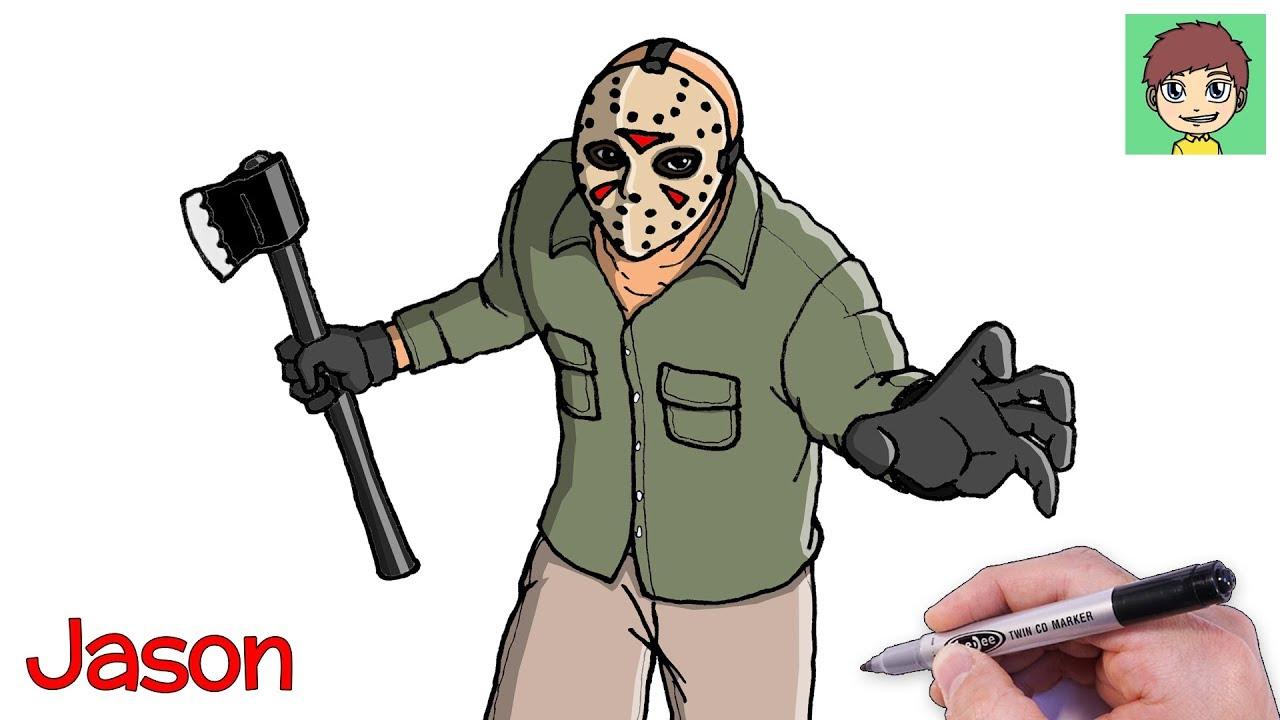 Como Desenhar O Jason Voorhees Passo A Passo Facil Desenho Para